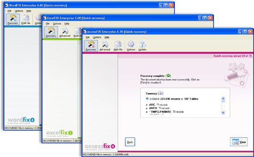 OfficeFIX Office Data Recovery full screenshot